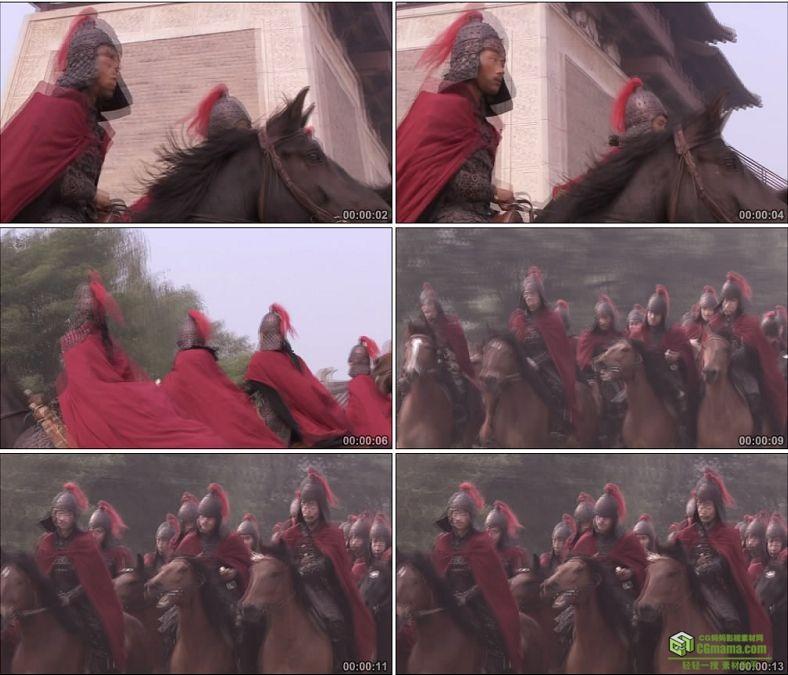 YC0009-中国古代唐朝骑兵/皇家卫队巡逻/高清实拍视频素材