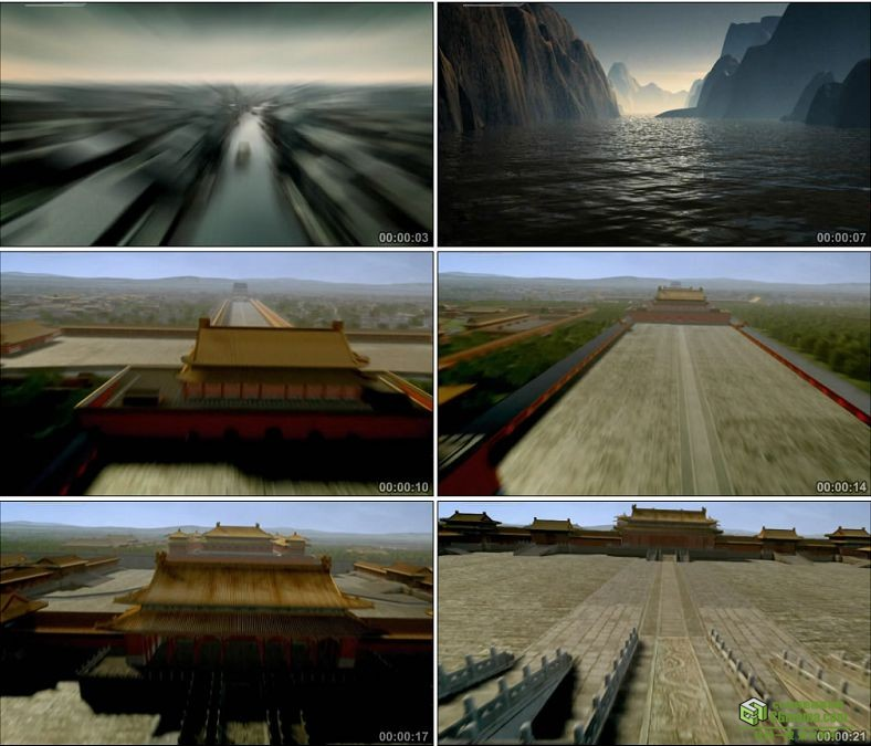 YC0034-从江南水乡到北京故宫/中国高清实拍特效视频素材