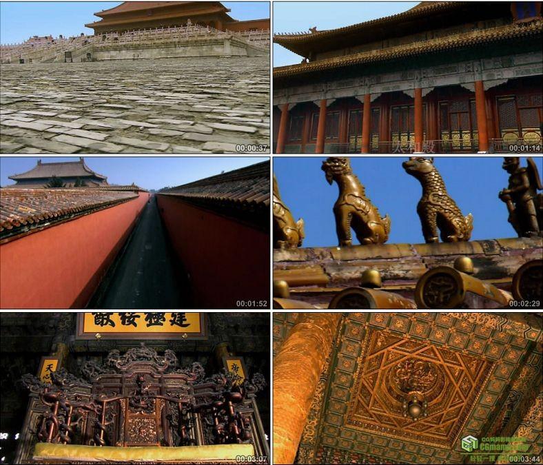 YC0040-故宫景色宫殿开门大气开场场景/太和殿/中国高清实拍视频素材下载