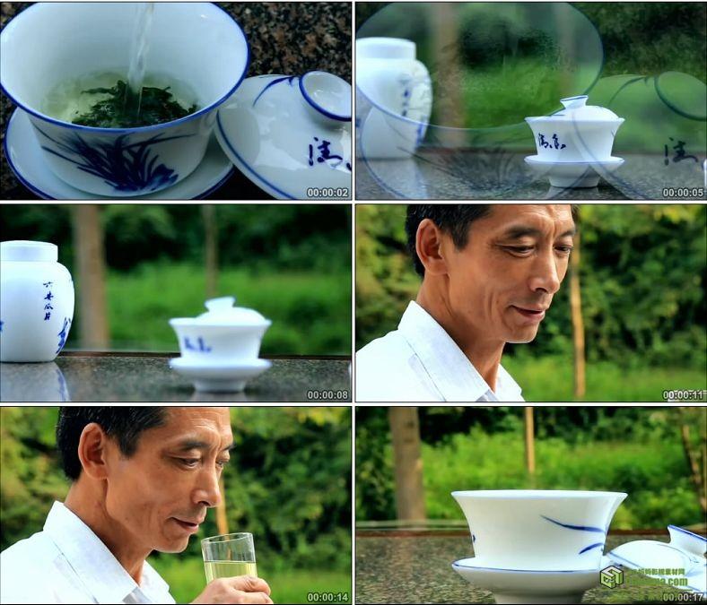 YC0055-泡茶招待客人/客人喝茶/冲茶/茶水/茶叶/中国高清实拍视频素材下载