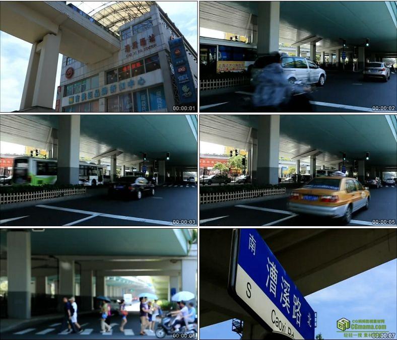 YC0071-上海街头一组风景漕溪路中国高清实拍视频素材下载