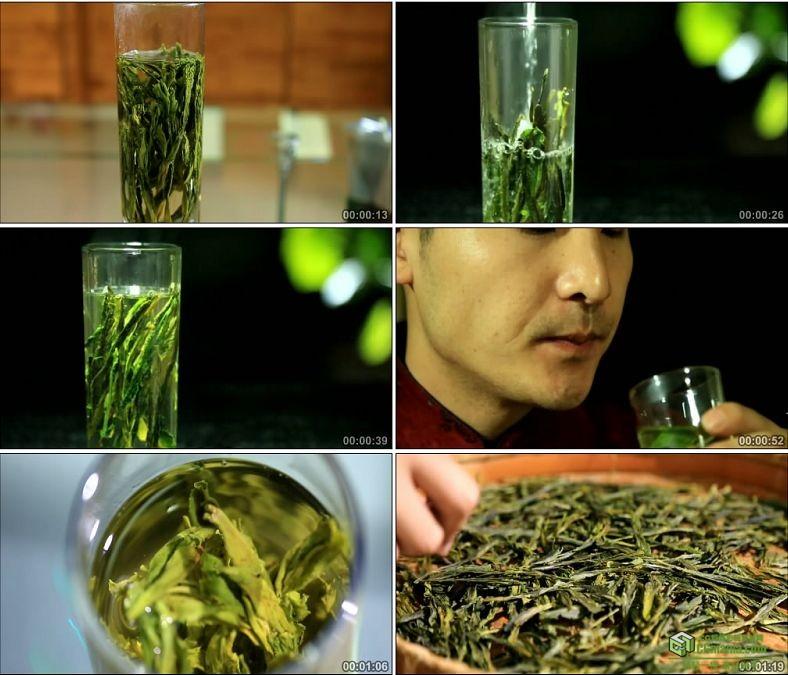 YC0077-茶叶特写喝茶泡茶太平猴魁/沏茶冲茶/中国高清实拍视频素材下载