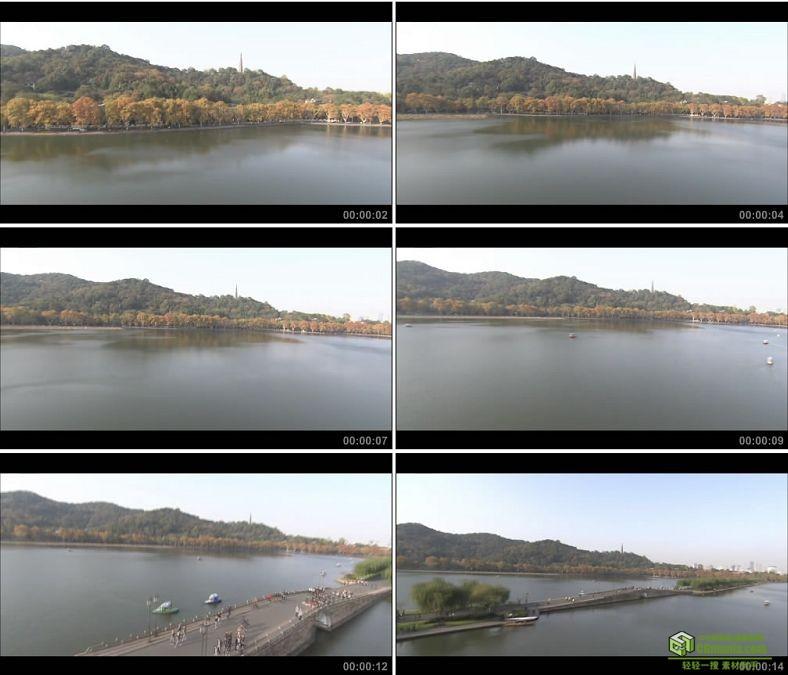 YC0096-杭州西湖雷峰塔飞机航拍长镜头/中国高清实拍视频素材下载