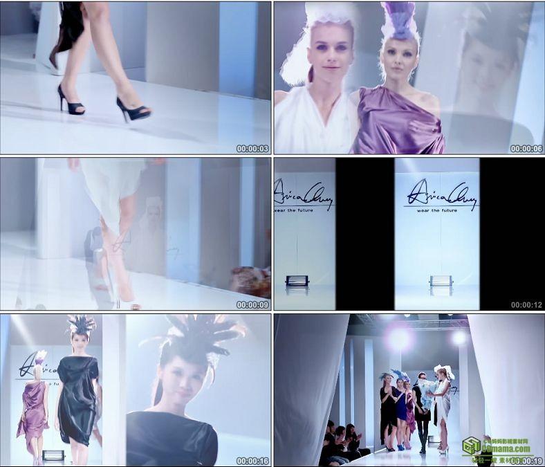 YC0152-时装模特秀一组服装设计/中国高清实拍视频素材下载