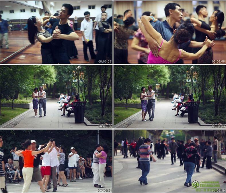 YC0162-中老年人跳舞锻炼身体舞会/中国高清实拍视频素材下载