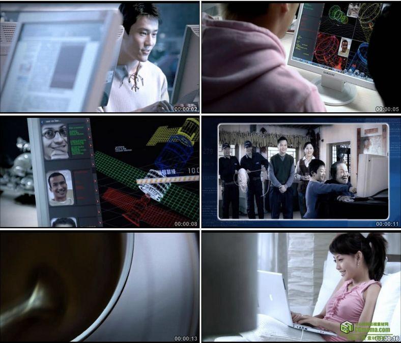 YC0171-不同人群上网玩电脑镜头一组老人孩子白领/中国高清实拍视频素材下载