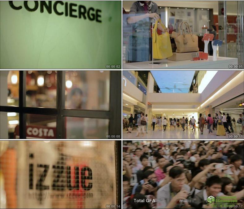 YC0179-大型购物商场开门超市上货各大国际品牌/中国高清实拍视频素材下载