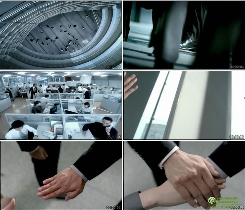 YC0207-上班下班商务忙碌的白领打电话会议/中国高清实拍视频素材下载