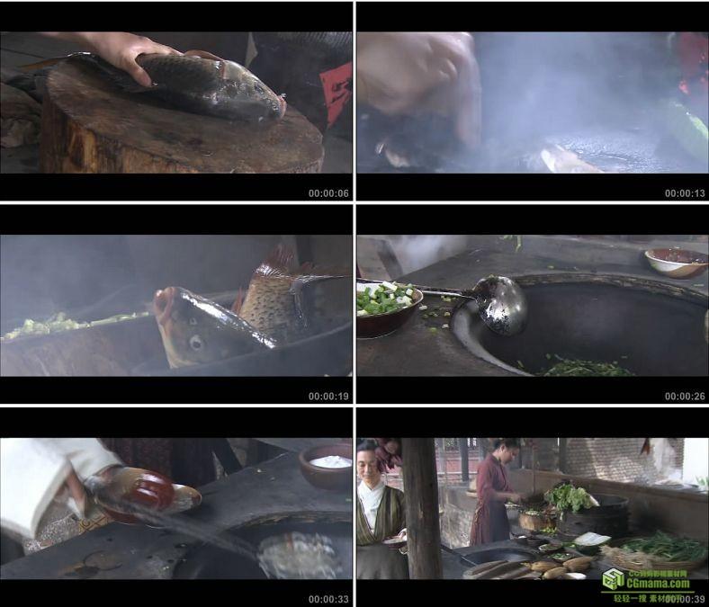 YC0217-杭州名吃宋嫂鱼羹做鱼美食/中国高清实拍视频素材下载
