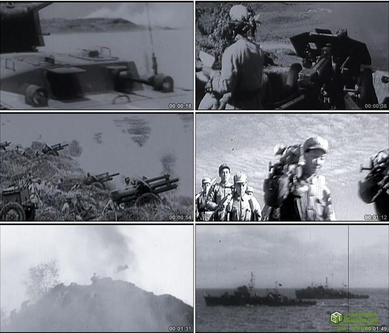 YC0269-中国人民军队第一次海陆空协同作战珍贵历史资料/实拍视频素材下载