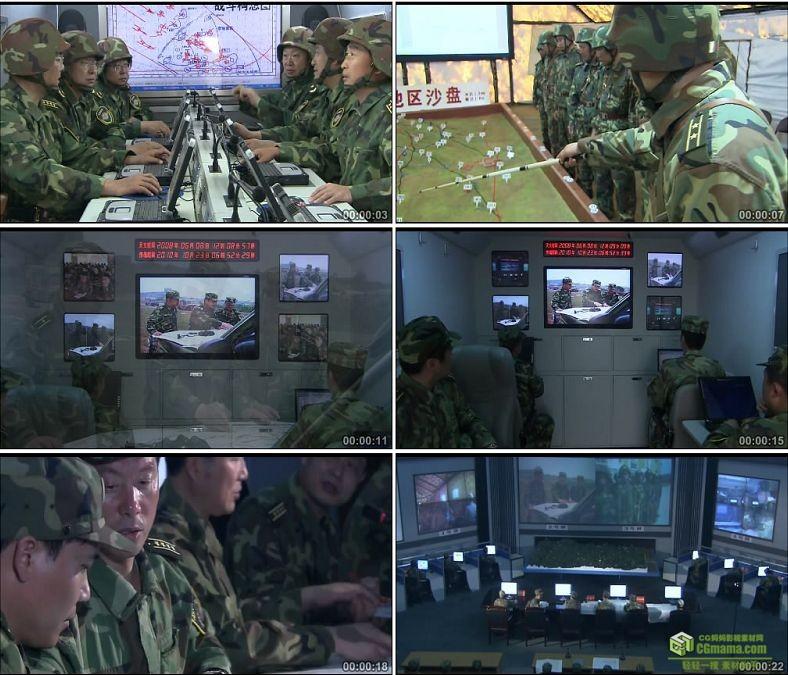 YC0277-中国军队指挥作战作战实验室/高清实拍视频素材下载