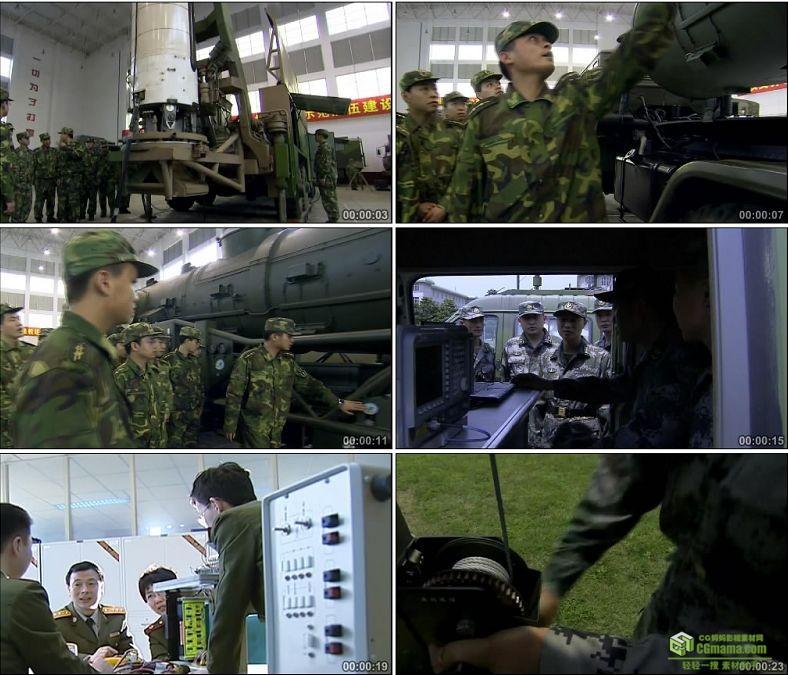 YC0324-军队部队领导视察工作科研导弹/中国高清实拍军事视频素材下载