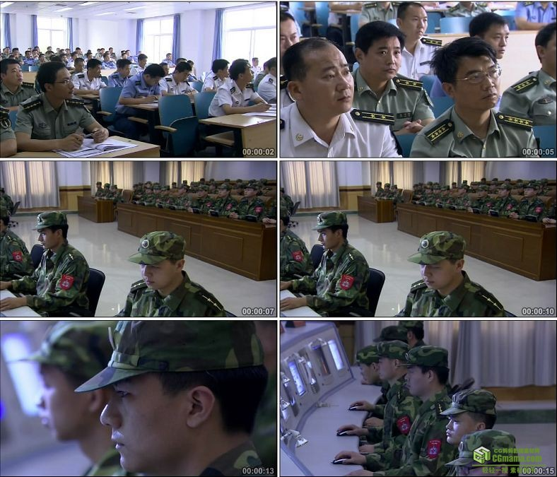 YC0325-军事课堂军队学习信息化建设/上课/中国高清实拍视频素材