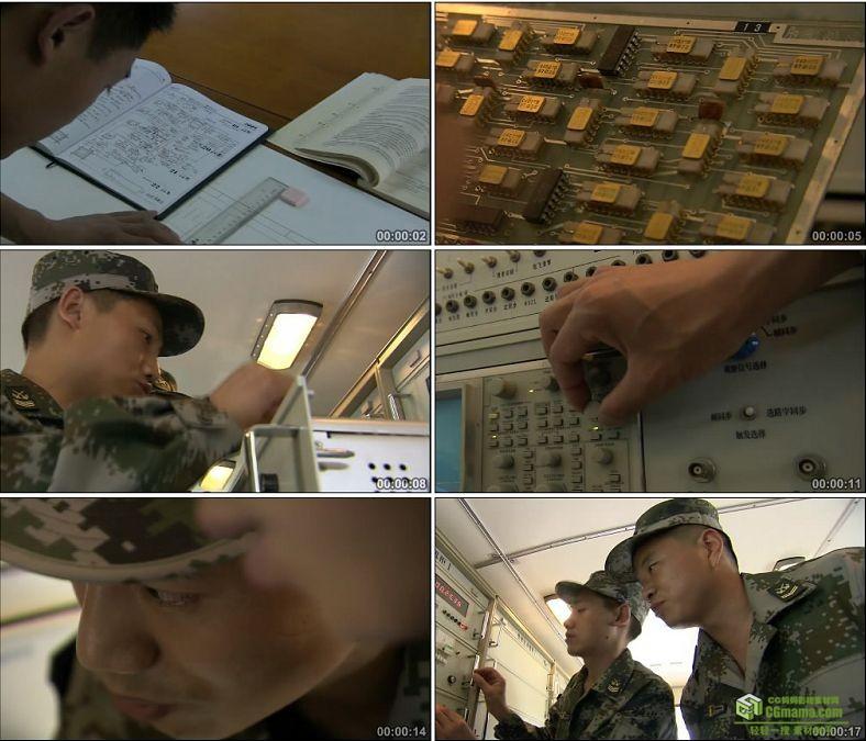 YC0328-军队科研讨论研究科技/军官士兵/中国高清实拍视频素材下载