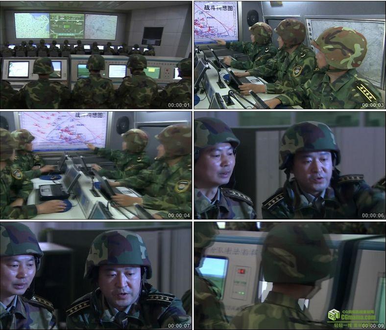 YC0335-中国军队网络指挥系统平台信息化/高清实拍视频素材下载