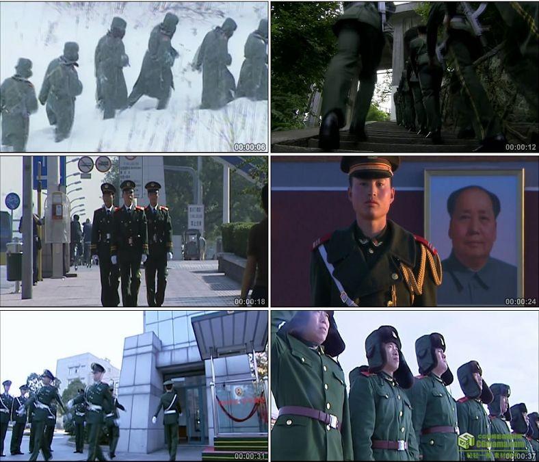 YC0339-祖国边防哨位战士巡逻/中国实拍视频素材下载