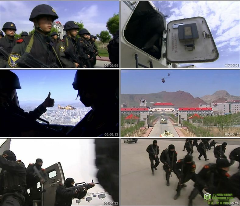 YC0342-防暴部队训练操练防暴演习反恐/中国高清实拍视频素材下载