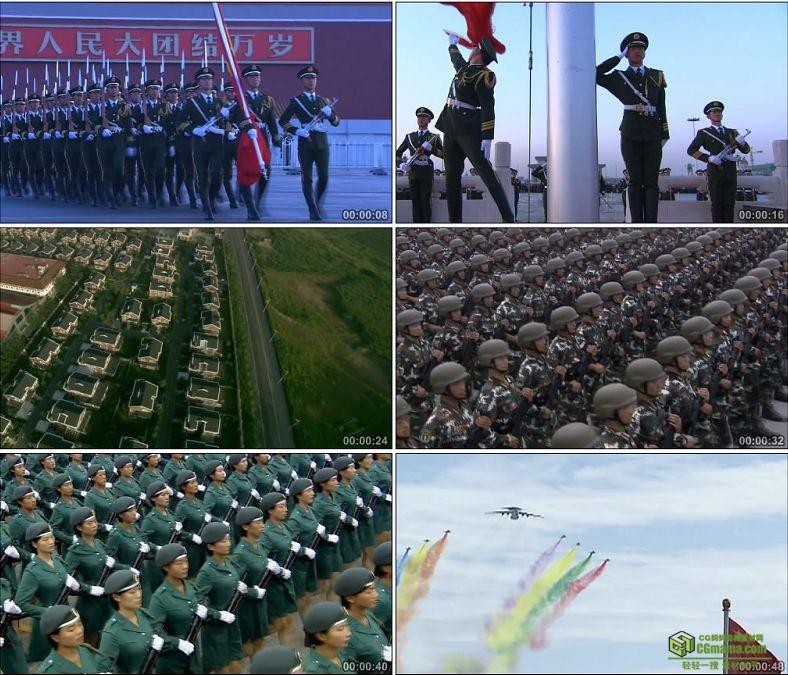 YC0358-天安门升国旗仪式阅兵海陆空三军方队/中国高清实拍军事视频素材下载
