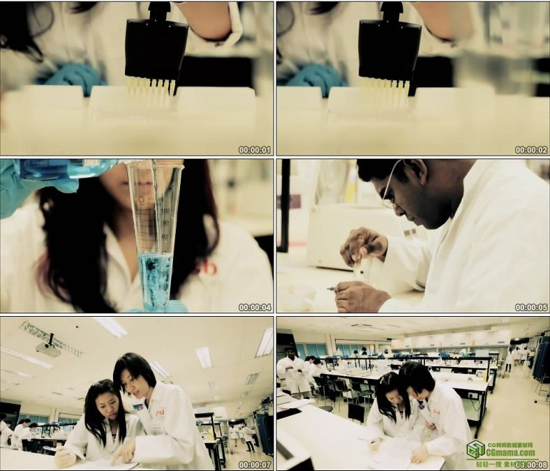 YC0377-科学实验化学科研镜头/大学生实验课/中国高清实拍视频素材下载