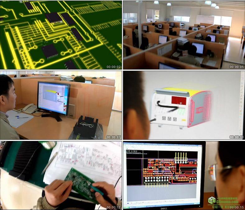 YC0413-芯片制作科学研究工业设计生产制作中国高清实拍视频素材下载