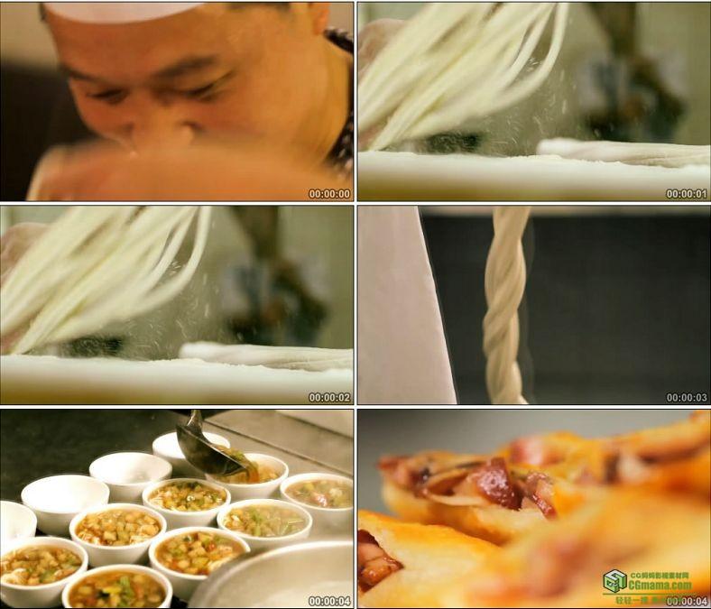 YC0421-美食厨师做拉面手擀面面条春卷中国高清实拍视频素材下载