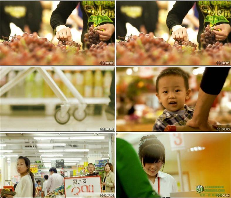 YC0422-超市购物水果收银镜头一组中国高清实拍视频素材下载