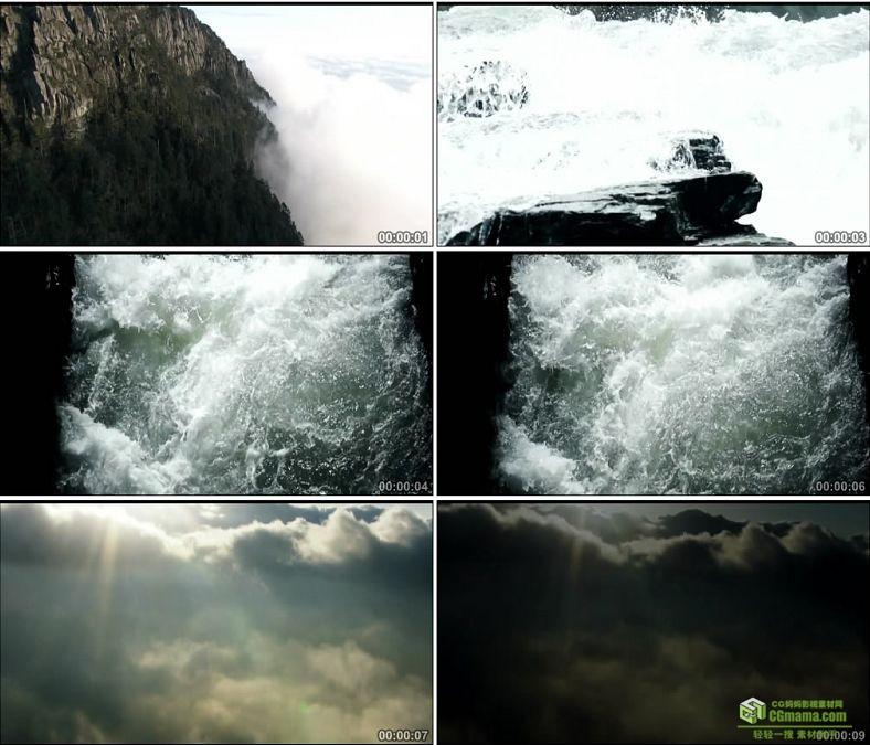 YC0430-高山水浪浪花天空流体大气镜头中国高清实拍视频素材下载