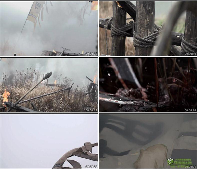 YC0449-中国古代周朝战争兵荒马乱战火纷飞血流成河高清实拍视频素材下载