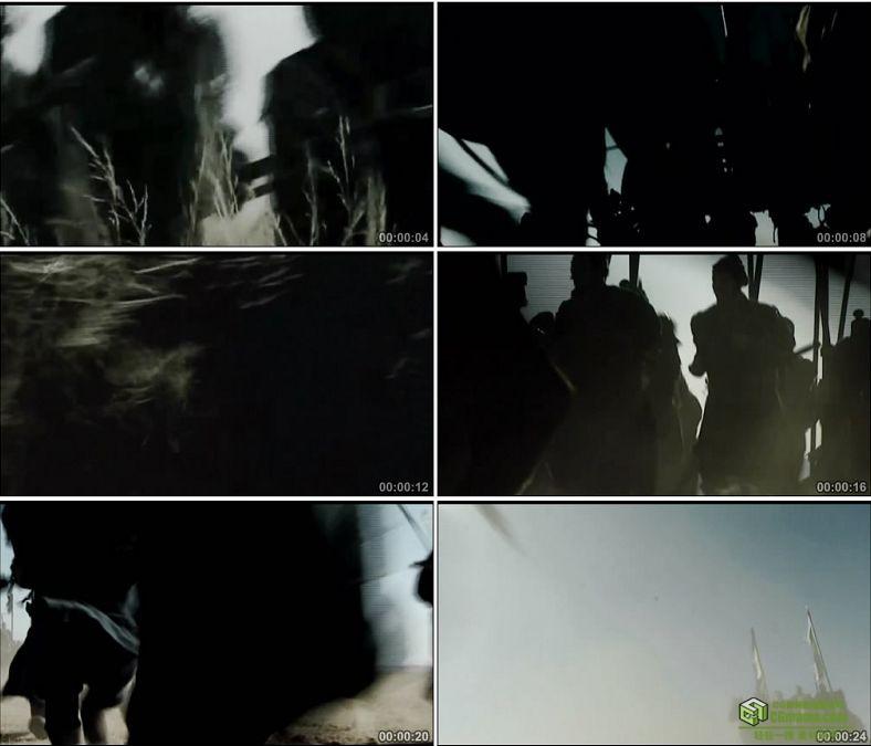 YC0469-中国古代战争春秋战国战车兵荒马乱步兵进攻高清实拍视频素材下载