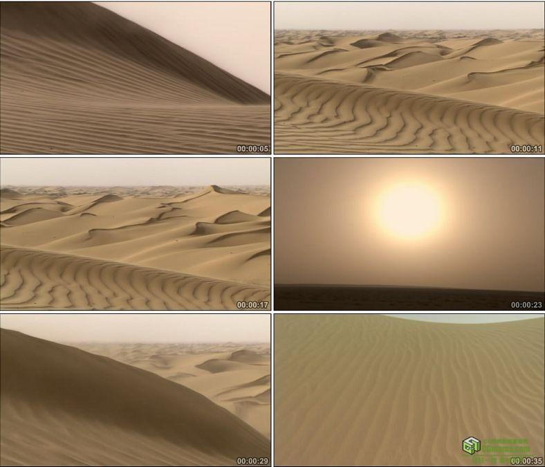 YC0544-沙漠沙尘暴漫天沙土中国高清实拍视频素材下载