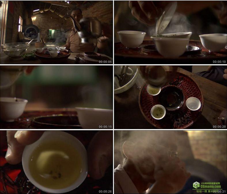 YC0719-烧水沏茶泡茶喝茶品茶茶客中国高清实拍视频素材下载