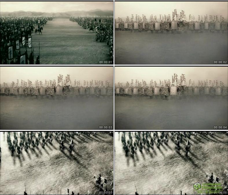 YC0791-两军对垒中国古代战争士兵冲锋高清实拍视频素材下载