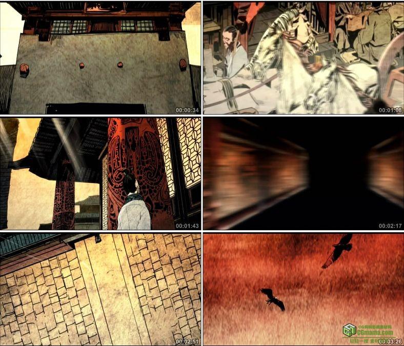 YC0799-战国动画苏秦合纵楚国宫殿秦国骑兵中国古代高清动画视频素材下载