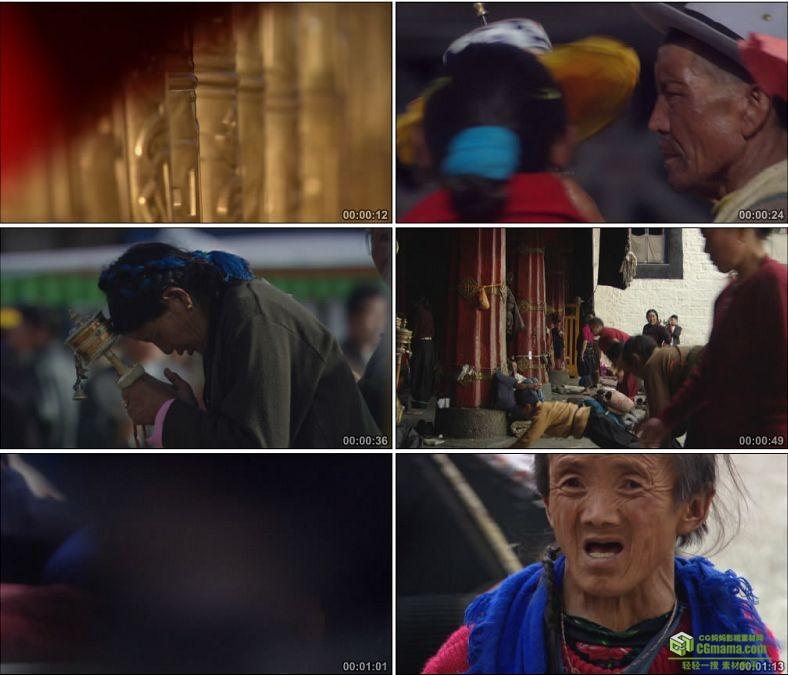 YC0808-布达拉宫西藏藏民僧侣喇嘛跪拜风俗民俗仪式中国高清实拍视频素材下载