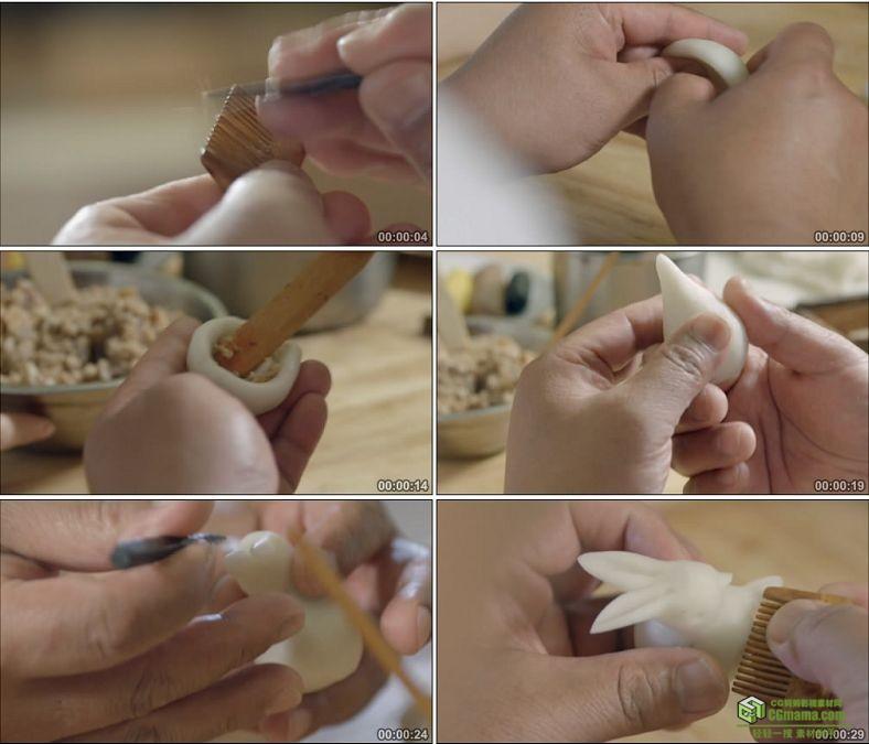 YC0854-精美工艺面食甜点制作面食糕点中国美食高清实拍视频素材下载