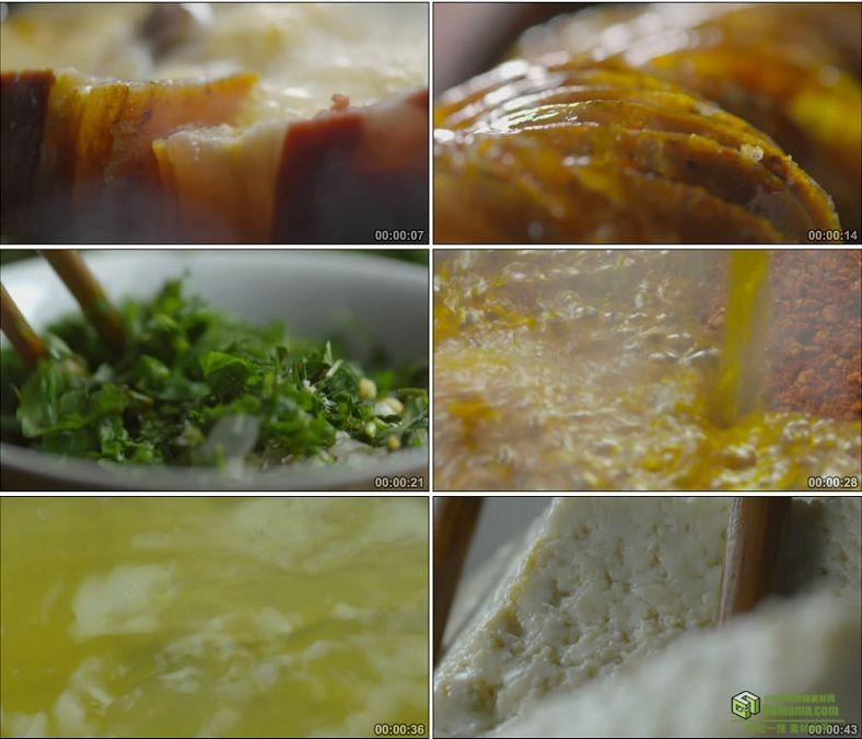 YC0865-美食制作拍黄瓜切肉切菜红烧肉做饭炒菜冻豆腐高清实拍视频素材下载