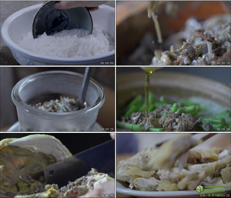 YC0867-沙蟹酱的制作和蟹酱美食烹制螃蟹鸡肉中国高清实拍视频素材下载