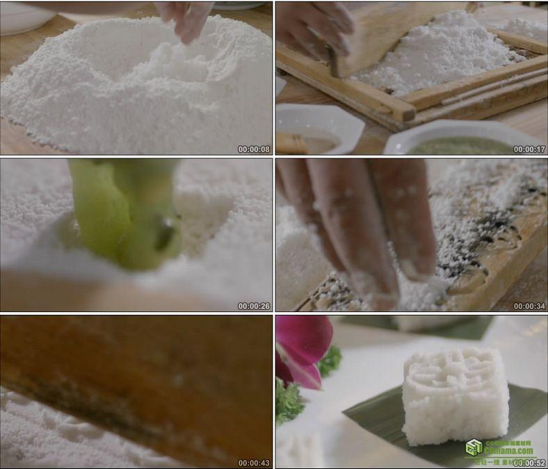 YC0877-苏式糕点糯米方糕大米米粒厨师制作甜点果酱美食高清实拍视频素材下载