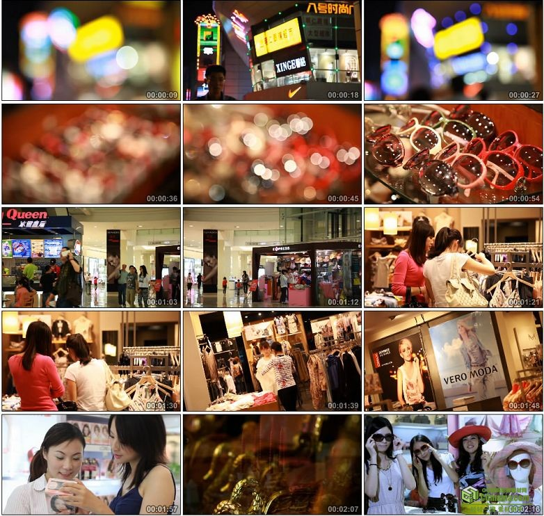AA0027-时尚购物女性大型购物商场超市美食品牌宣传片高清实拍视频素材