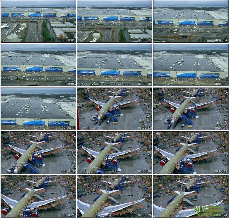 AA0029-飞机起飞制造维护维修中国高清实拍视频素材