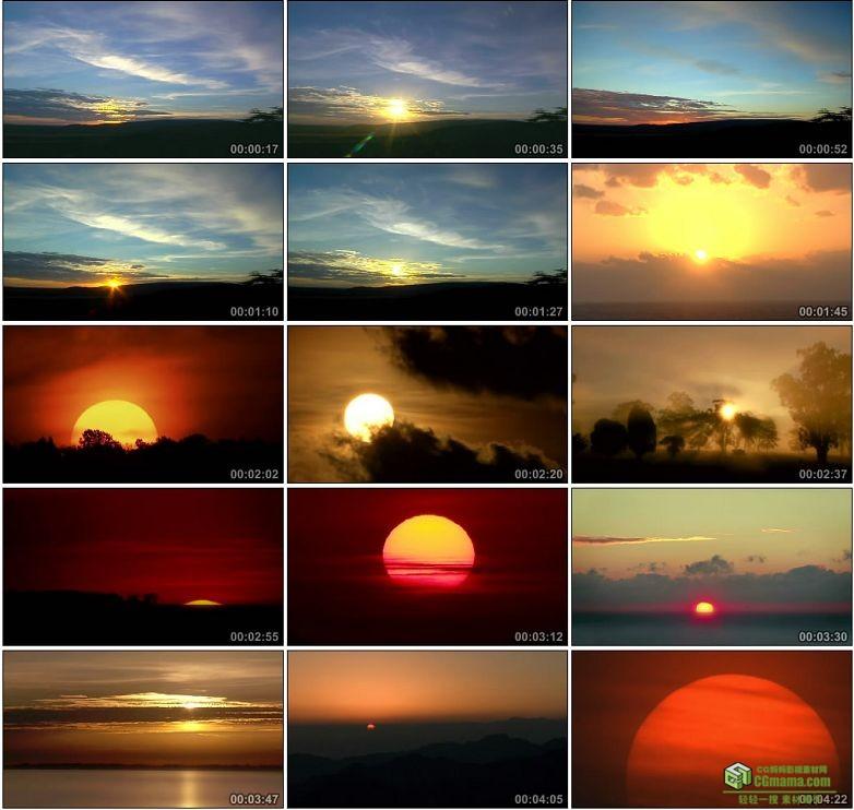 AA0033-日出日落17组剪辑成片中国高清实拍视频素材