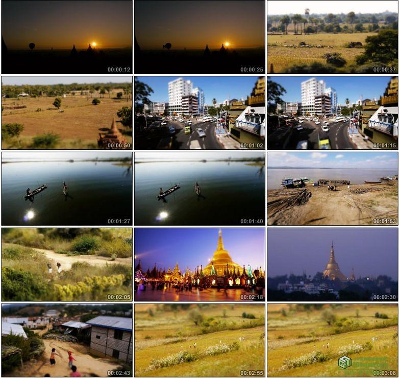 AA0063-移轴摄影缅甸高清实拍视频素材宣传片下载