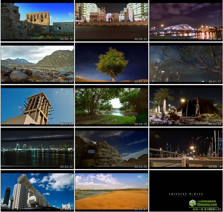 AA0080-延时摄影—阿联酋的冬季城市风光高清实拍视频素材宣传片下载