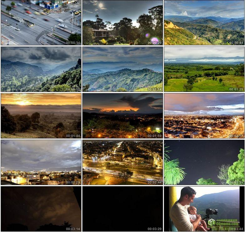 AA0085-延时摄影——哥伦比亚高清实拍视频素材车流夜间宣传片