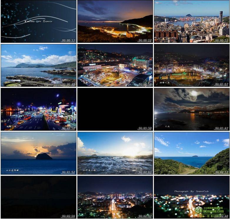 AA0087-延时摄影台湾基隆之美中国高清实拍视频素材宣传片下载