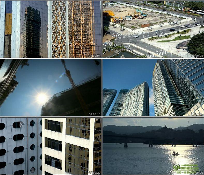 YC0912-澳门城市风景高清实拍视频素材