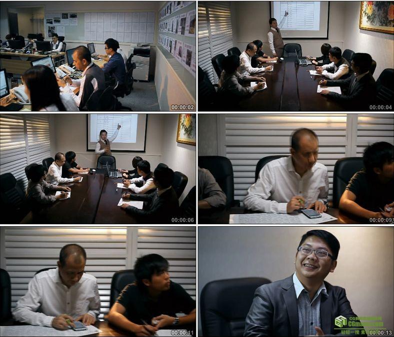 YC0914-白领工作公司会议商务人物高清实拍视频素材