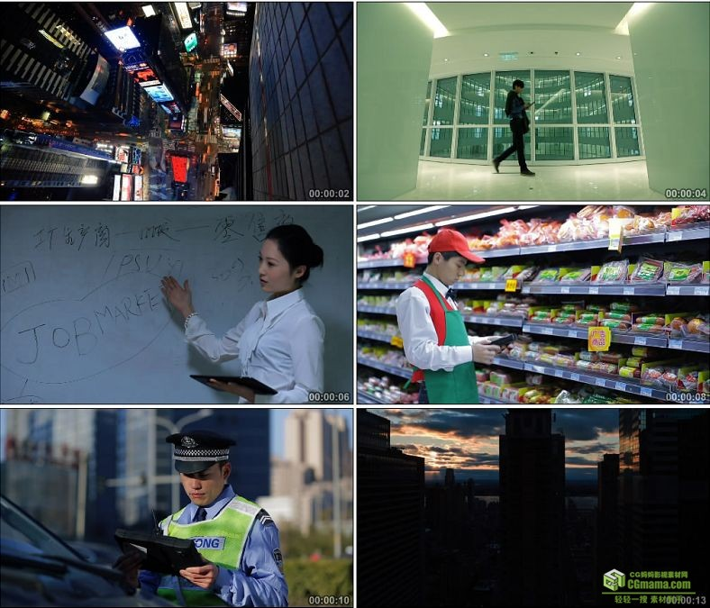 YC0946-俯拍城市食品安全监测交警查车老师讲课高清实拍视频素材