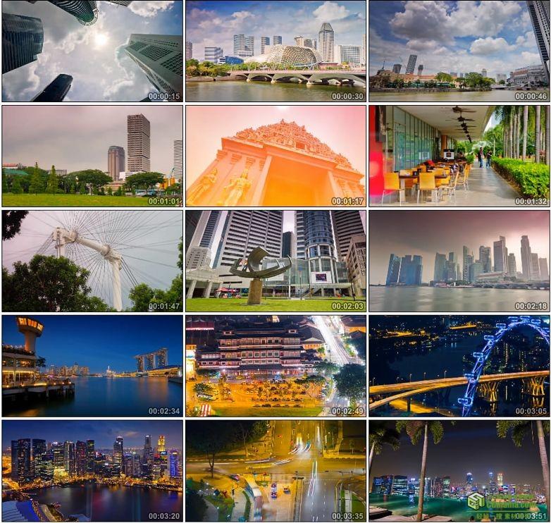 AA0092-延时摄影——新加坡城市风光高清实拍视频宣传片