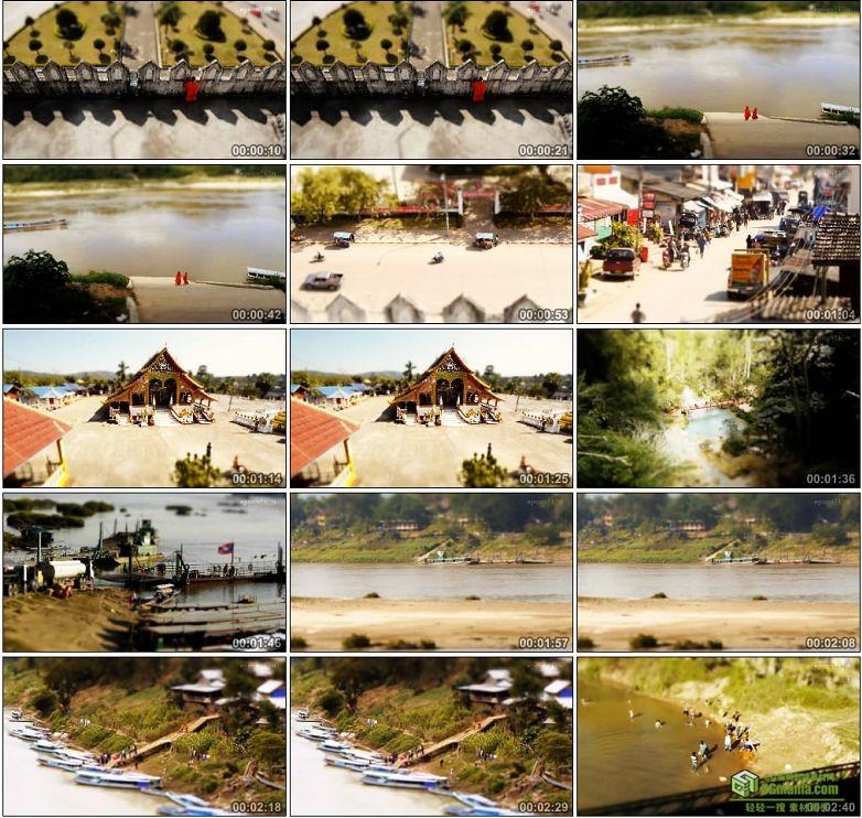 AA0093-移轴摄影老挝城市生活高清实拍视频素材宣传片下载